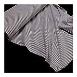 Stoff Baumwolle Seersucker Römerstreifen grau weiß 2,5 mm