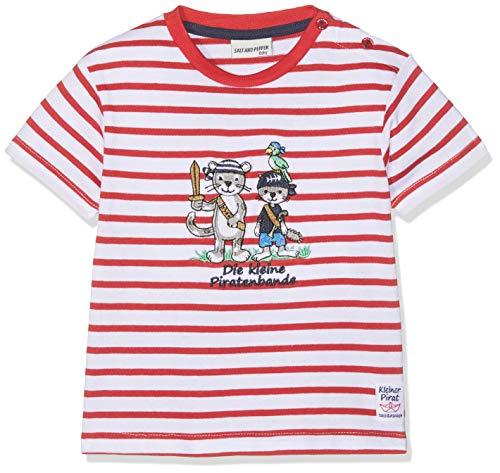 SALT AND PEPPER Salt & Pepper Baby-Jungen B Pirat Stripe Bande T-Shirt, Rot (Red 358), 68