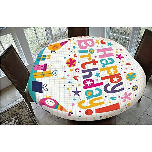 Mantel ajustable de poliéster con bordes elásticos, bloc de notas de matemáticas con diseño floral, arco iris, para mesas ovaladas/Olbong de 48 x 68 pulgadas, para comedor, cocina, fiesta, multicolor
