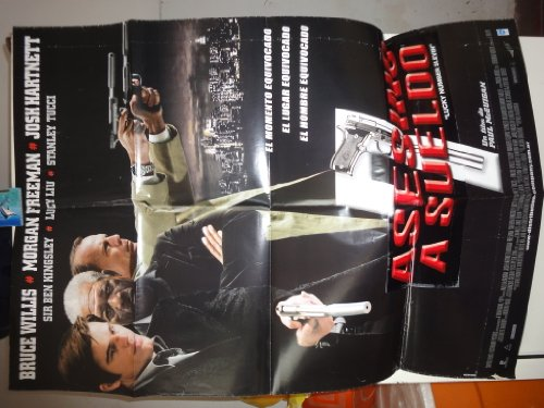 Original Argentine Movie Poster Lucky Number Slevin Asesino A Sueldo Bruce Willis Morgan Freeman Josh