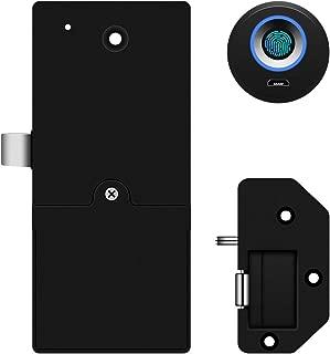 Fingerprint Lock Smart Lock Cabinet Locks Biometric Digital Keyless Furniture Drawer Lock,2 Mode,Suitable for Home &Office&Public Places (Black)