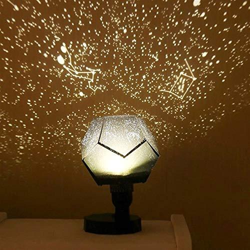 Bright table lamp Lampe de table, Star projection latérale Lampe de table, lumières de Noël for la maison Party d'économie d'énergie Romantique Salon Chambre Décoration (Emitting Color : A)