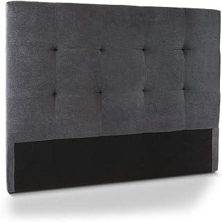 Home Heavenly®- Cabezal Cama, cabecero tapizado Olson 150 X 115 y 105 X 115 para Cama Individual y de Matrimonio Acolchado con Espuma de 6 cm. (Gris, 105_x_115_cm)