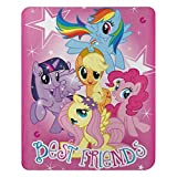 Hasbro's My Little Pony, 'Happy Herd' Fleece Throw Blanket, 45' x 60', Multi Color
