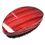 Wave Brush MediumBoar Bristles Hair brush-Designed for Thin and Normal Hair-Mens Curved Military Wave and Beard Brush-Great for 360 Waves