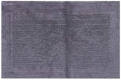 "Royal Touch ' 86OBO170101700024 100% Certified Egyptian Cotton Bath Rug, 17"" X 24"", Charcoal"
