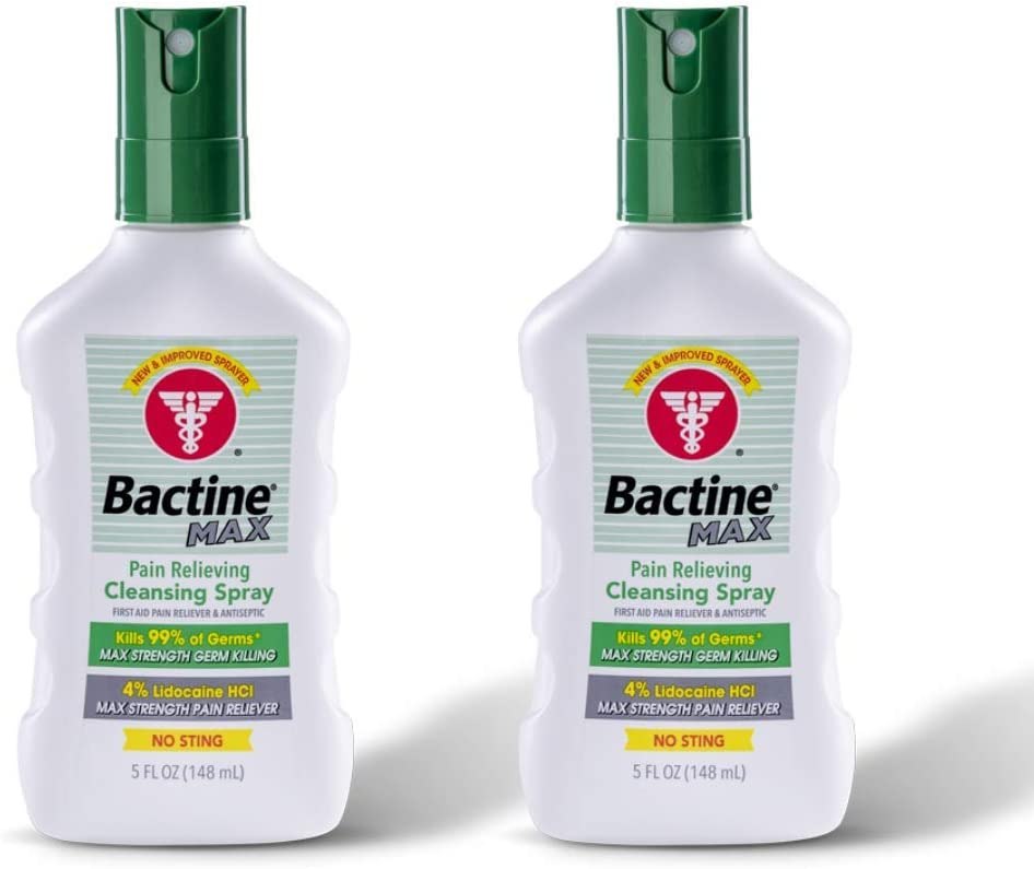 Bactine Austin Mall Price reduction Max Pain Relieving Cleansing Spray of Pack 5 Ounces Each