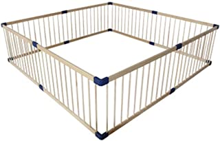 Playpen Oversized Square Play Yard For Baby Wooden Safe Play Area Protective Fence For Outdoor And Indoor  Size 200x200cm