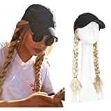 Baseball Cap With Hair Extension Curly Long...