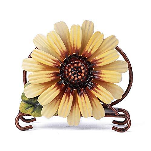 Hombro de tejido, Girasol Verano Servilletero floral...