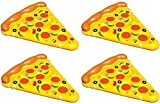 4-Pack Of Swimline Giant Inflatable Pizza Slice Float Rafts | 4 x 90645