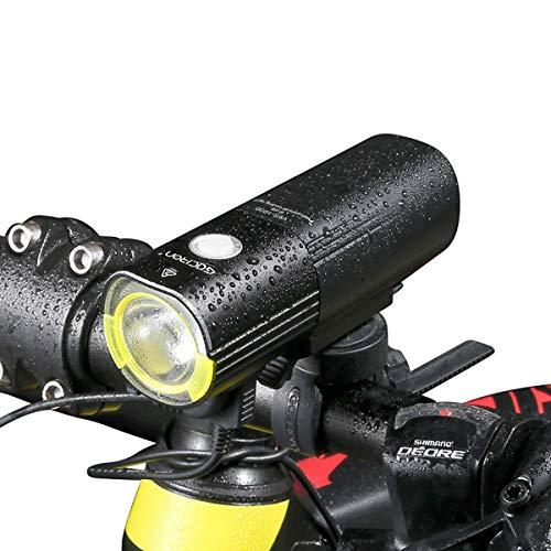 CLOUD POWER Fahrradlicht LED Wasserdicht Frontlicht,USB Wiederaufladbare Fahrradbeleuchtung 1000 Lumen Fahrradlichter IPX6 Wasserdicht Fahrradlampe 6 Licht-Modi
