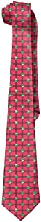 SARA NELL Mens Cute Cartoon The Grinch Fashion Silk Ties Personalized Gift Neckties