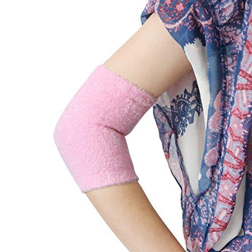 sourcing map 1 paire adoucir peau exfoliant hydratant Gel Elbow couvrir pochettes rose