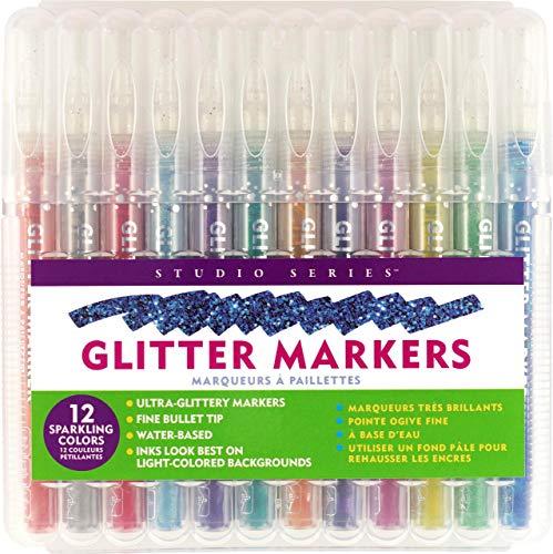 Studio Series Glitter Marker Set (12-piece set)