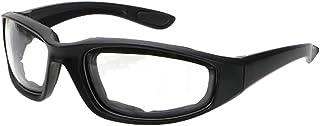 Homyl 1 par de óculos de motociclismo com acolchoamento e proteção UV, à prova de poeira, à prova de vento para esportes a...