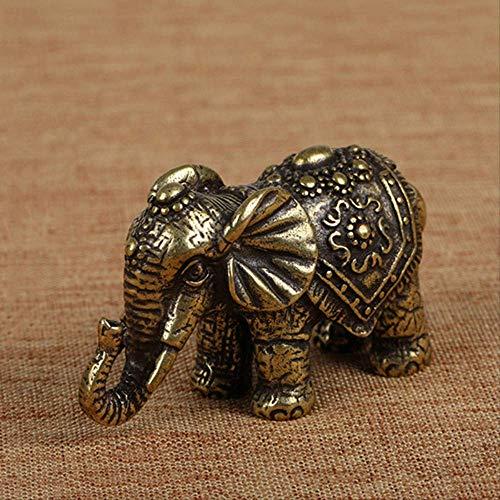 LBSST Elefante de la Suerte de Cobre Macizo, pequeños Adornos, estatuilla en Miniatura de Elefantes de latón, Estatua de Animal de Bronce Antiguo, decoración Artesanal