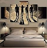 KAIASH 5 Partes póster Mural no Tejido Una película de la Naranja mecánica HD Cuadros para para decoración del