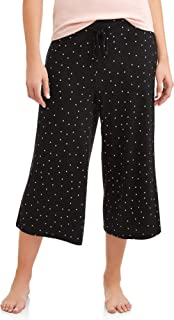 Black Soot Dot Lounge Sleep Capri Pants