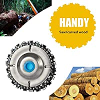 """Grinder Disc Chain Wood Carving Disc for Use with 4"""" or 4-1/2"""" Angle Grinders Easy to Use Install."""