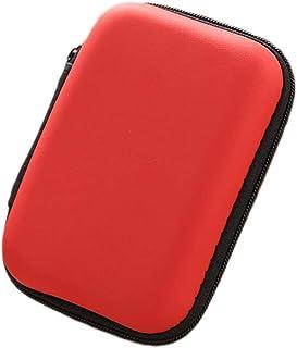Portable Square Earphone Storage Case Mini Pouch Storage for Smartphone Earphone Bluetooth Charger L Size 1pc Orange
