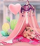 Yoommd Mosquitera para niños, toldo para la habitación, de lectura, cúpula redonda con mariposa, cama ligera de malla para cuna, mosquitero para niños, altura de 250 cm