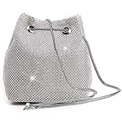 Silver Triangle Full Rhinestones Evening Bag