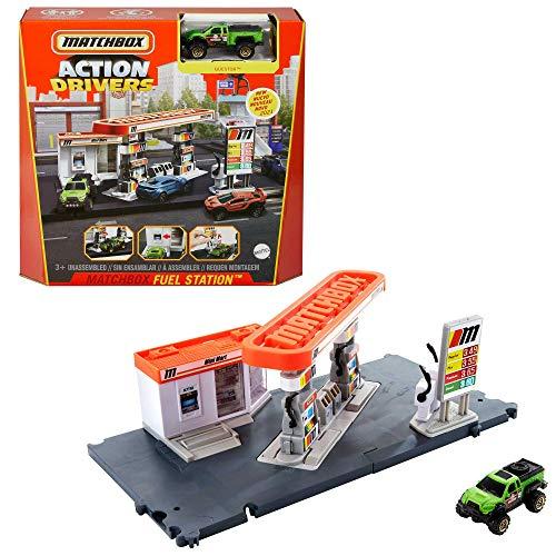 Matchbox Gasolinera Set de juego para coches de juguete (Mattel GVY84)
