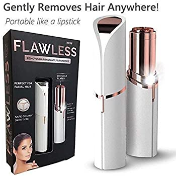 Flawless Painless Electric Hair Removal Shaver Without Battery (White And Gold)