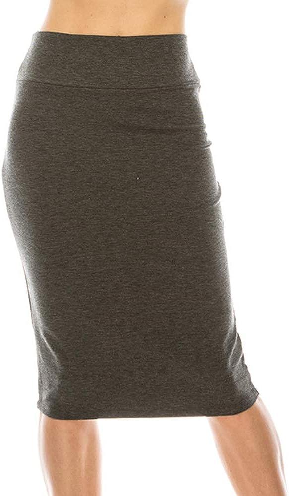 Liz and Sara Bodycon Pencil Skirt for Women | High Waist Business Work Wear