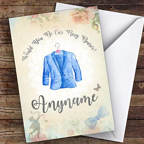 Vintage pak op Hanger zal je mijn ringdrager gepersonaliseerde groeten trouwkaart