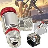 Uayasily Inflador de CO2 Cabeza de Bicicletas Sccessory para Bicicletas Neumáticos Presta y Schrader Compatible válvulas neumático de la Bici Bomba Cabeza de aleación de Aluminio