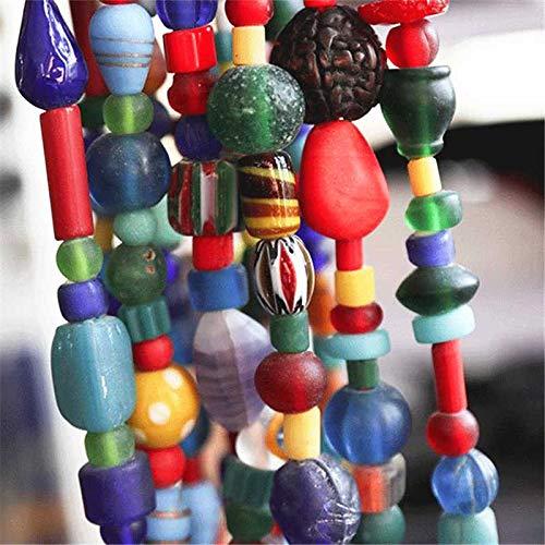 YANGYANG Tsb0011 Nepal, Hecho a Mano, Colorido, arcaístico, de Murano, con Cuentas, Collar súper Largo, joyería tibetana, 95-100Cm, 39 Pulgadas
