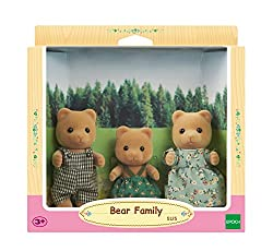 Sylvanian Families Bear Family (5125) Great for stimulating imaginative role-play in children Material : Plastic Official merchandise product