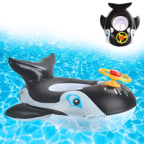 Ulikey Bebé Asiento de Natación Inflable, Anillo de Natación para Bebé, Flotador Bebé Piscina con manija del Volante, Anillo de Natación Inflable Juguetes de Desarrollo de Natación (Swimming Ring-d)