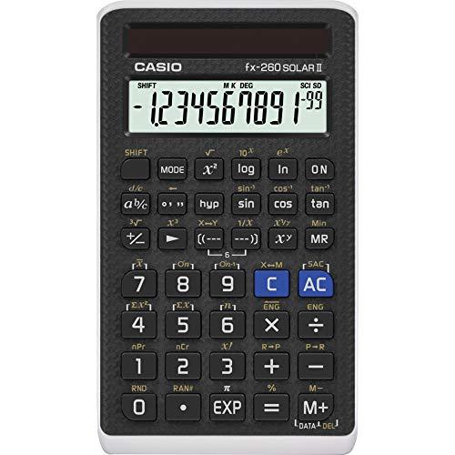 Casio Calculadora científica preta, 7,6 cm L x 12,7 cm A, 5,7 cm (FX-260 SOLARII-S-IH)