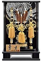 破魔弓 ケース飾り パノラマ 勇士 銀 12号 アクリルケース h031-mm-077