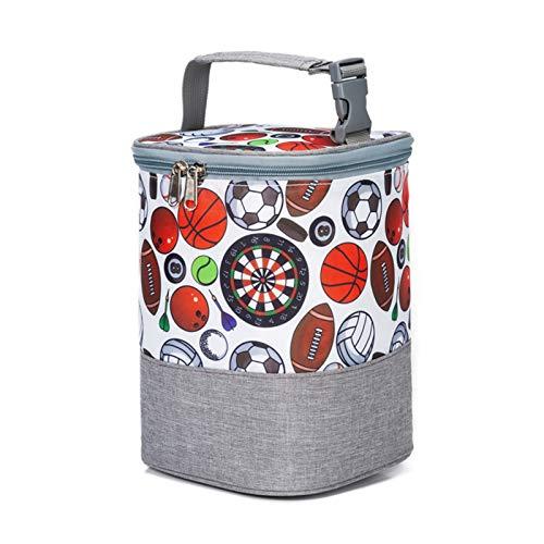 Ligero Bolsa del Almuerzo Bolso de Mano Calidad BPA Free Food Safe Linda Pequeña Pequeña Fooling Food Box Aislate Cooler Bag para Baby Bottle (Color : Geometry)