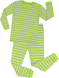 9df186920 Hibote Pijamas Rayas para Niños Pijamas Navidad para Niñas Vetement Enfant  Fille Pijamas Pijamas Navidad para