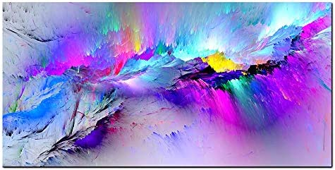 Multicolor Aurora Printed Canvas Painting for Living Room Wall Decor Modern Home Decorative product image