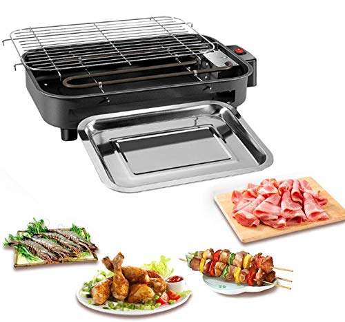 4YANG Rauchfreie Grillgeräte Elektrische Innengrillmaschine Multifunktions-Teppanyaki-Grill Ideal für 4-5 Personen für Familienessen und Gartenpartys