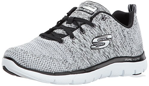 Skechers Damen Flex Appeal 2.0 - High Energy Sneaker, Weiß (wbk), 40 EU