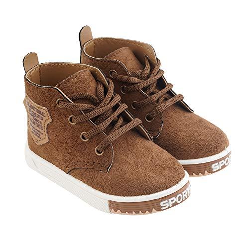Edee Boy's & Girl's Casual Stylish Boots Tan