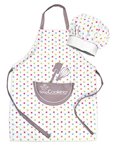 SCRAP COOKING ScrapCooking Set Tablier + Toque Enfant, Coton
