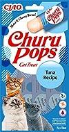 INABA Churu Pops - Hand-Feeding Cat Treats - Delicious, tasty cat snacks - Tuna, Blue