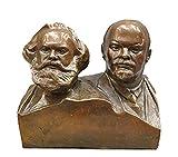 Liangliang988 Estatua de bronce del gran busto comunista Marx y Lenin