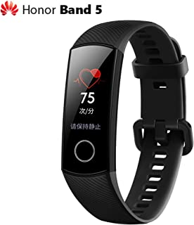 Huawei Honor Band 5 Smart Wristband 0.95'' Color AMOLED Screen Blood Oxygen Fitness Tracker 50M Waterproof Bracelet Pedometer Swim Stroke Monitor Heart Rate Sleep Nap Bluetooth Smart Watch iOS Android