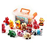 CRAZY LEDI 12 Pieces Wind-up Toys for Kids Birthday Gift, Baby Early Education Clockwork Toy, Small Wind Up Toy,Infant Toys Storage Box Baby Toys 6 to 12 Months