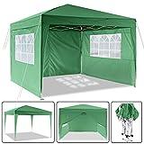 Laiozyen Pavillon 3mx3m, Tente de pavillon Pliable imperméable à l'eau, Tente de pavillon Pliante...