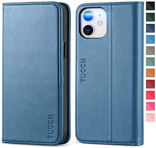 TUCCH Wallet Case for iPhone 12 Pro iPhone 12 5G Stand PU Leather Flip Folio Book Case Credit product image